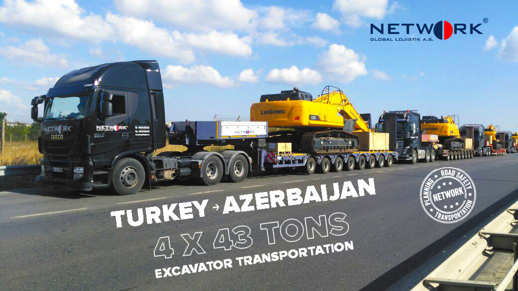 Turkey - Azerbaijan Excavator Transportation